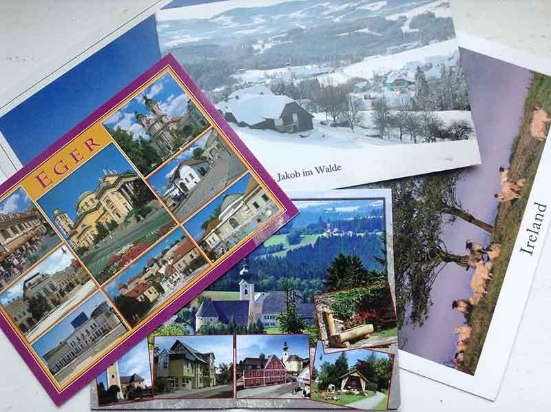postkarte gedächtnis
